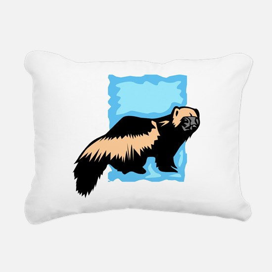 Wolverine Rectangular Canvas Pillow