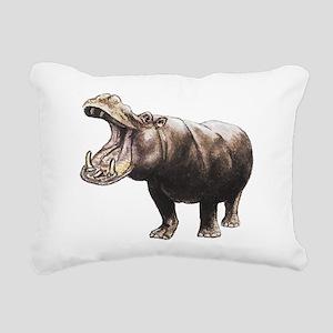 hippo Rectangular Canvas Pillow