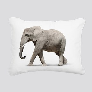 Elephant Photo Rectangular Canvas Pillow