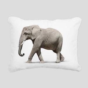 Elephant Photo Rectangular Canvas Pillow