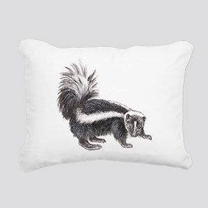 Striped Skunk Rectangular Canvas Pillow