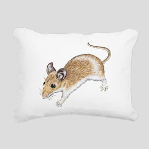 white mouse Rectangular Canvas Pillow