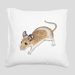 white mouse Square Canvas Pillow