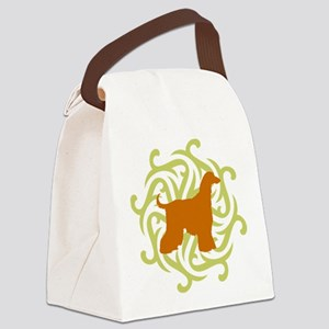 lime and rust Canvas Lunch Bag