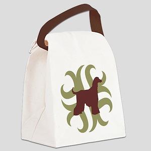 2-afghan hound tribal Canvas Lunch Bag