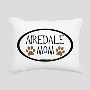 airedale mom two paws Rectangular Canvas Pillo