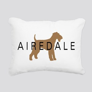 airedale dog text Rectangular Canvas Pillow