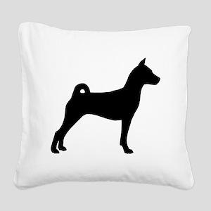 Basenji Dog Square Canvas Pillow