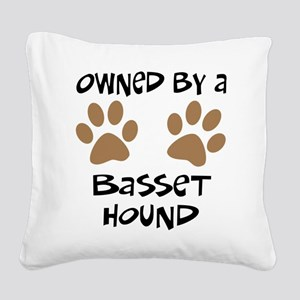 basset hound Square Canvas Pillow