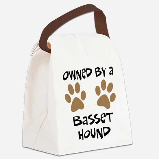 basset hound.png Canvas Lunch Bag