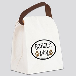 beagle mom oval Canvas Lunch Bag