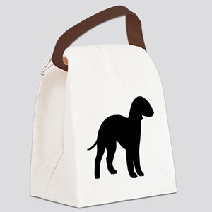 bedlington terrier black 2 Canvas Lunch Bag
