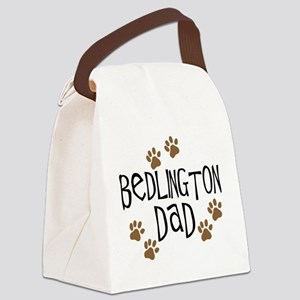 bedlington dad Canvas Lunch Bag