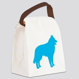Blue Belgian Sheepdog Canvas Lunch Bag
