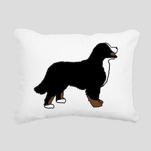 Tri Color Bernese Dog Rectangular Canvas Pillow