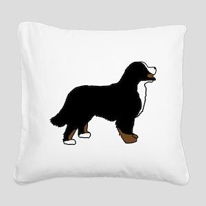 Tri Color Bernese Dog Square Canvas Pillow