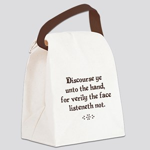 Unto the hand Canvas Lunch Bag
