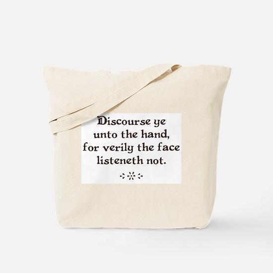Unto the hand Tote Bag