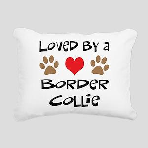 3-border collie Rectangular Canvas Pillow