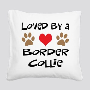 3-border collie Square Canvas Pillow