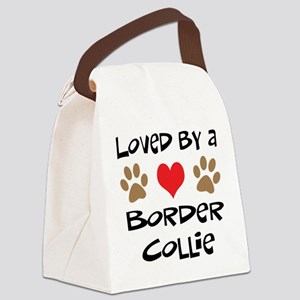 3-border collie Canvas Lunch Bag