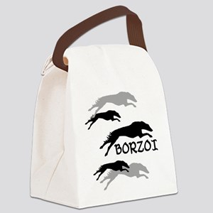 Many Borzois Running Canvas Lunch Bag