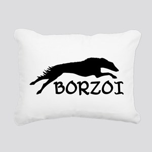 running borzoi with text sqwh2 Rectangular Can