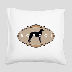 borzoi fancy oval 2 Square Canvas Pillow