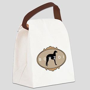 borzoi fancy oval 2 Canvas Lunch Bag