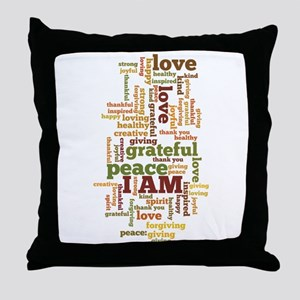 I AM Affirmations Throw Pillow