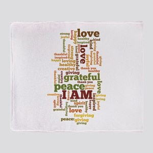 I AM Affirmations Throw Blanket