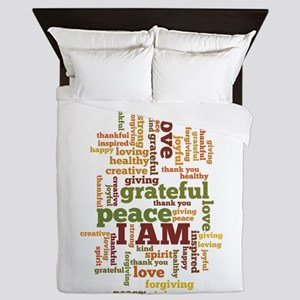 I AM Affirmations Queen Duvet