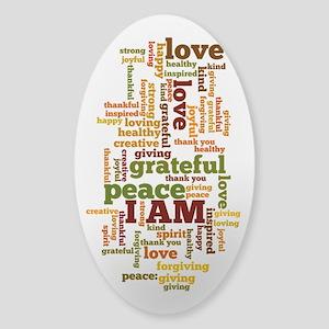 I AM Affirmations Sticker (Oval)