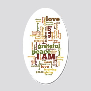 I AM Affirmations 20x12 Oval Wall Decal
