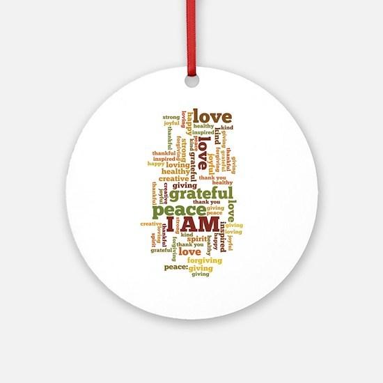 I AM Affirmations Ornament (Round)