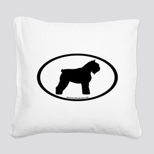 Bouvier Oval Square Canvas Pillow