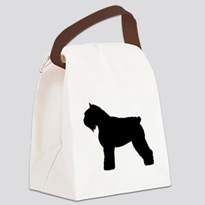 bouvier des flandres white Canvas Lunch Bag