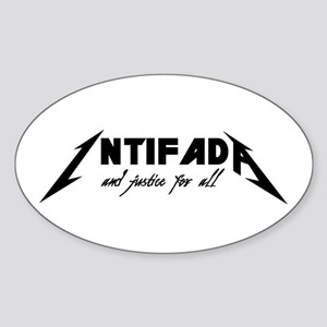 Intifada And Justice for All Oval Sticker