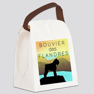 by the sea bouvier orn Canvas Lunch Bag
