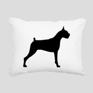 Boxer Dog Rectangular Canvas Pillow