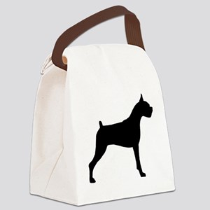 Boxer Dog Canvas Lunch Bag