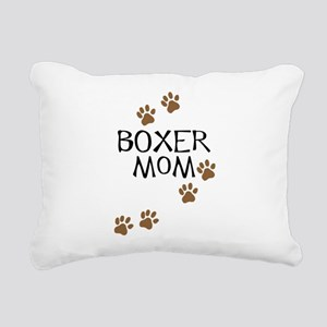 Boxer Mom Rectangular Canvas Pillow
