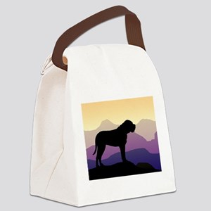 bullmastiff purple mt sq3 Canvas Lunch Bag