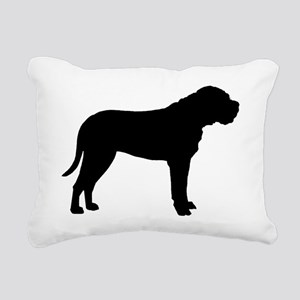 bullmastiff black Rectangular Canvas Pillow