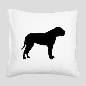 bullmastiff black Square Canvas Pillow