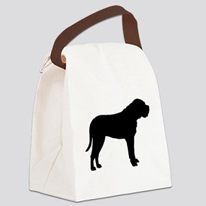 bullmastiff black Canvas Lunch Bag
