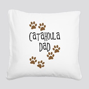 catahoula dad 4 Square Canvas Pillow
