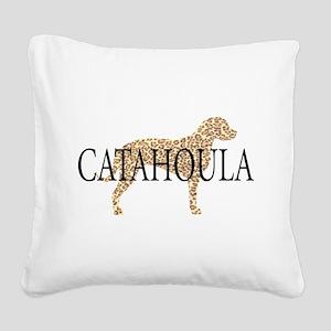 catahoula spots wh Square Canvas Pillow