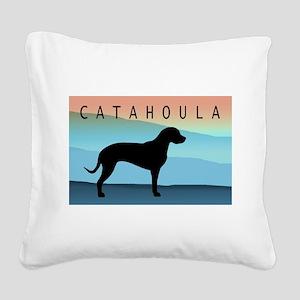 catahoula blue mt wide2 Square Canvas Pillow