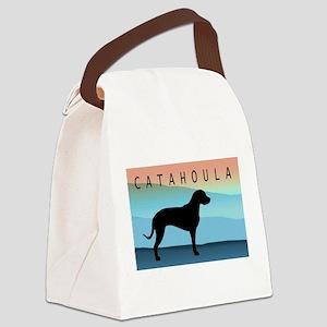 catahoula blue mt wide2 Canvas Lunch Bag